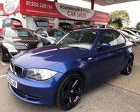 2009 BMW 1 SERIES 2.0 120D SE 2d 175 BHP 6 SPEED FULL BLACK LEATHER F.S.H £5495.00