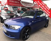 USED 2009 59 BMW 1 SERIES 2.0 120D SE 2d 175 BHP 6 SPEED FULL BLACK LEATHER F.S.H