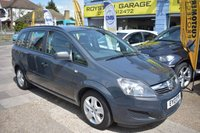USED 2013 13 VAUXHALL ZAFIRA 1.6 EXCLUSIV 5d 113 BHP 7 SEATER LOW MILES THE CAR FINANCE SPECIALIST