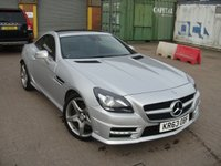 USED 2014 63 MERCEDES-BENZ SLK 2.1 SLK250 CDI BLUEEFFICIENCY AMG SPORT 2d AUTO 204 BHP ANY PART EXCHANGE WELCOME, COUNTRY WIDE DELIVERY ARRANGED, HUGE SPEC
