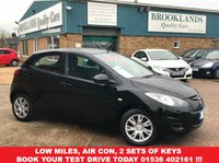 USED 2013 13 MAZDA 2 1.3 TS 5 DOOR 74 BHP BLACK £30 ROAD TAX Low Miles, Air Con, 2 Sets Of Keys Book your test drive today 01536 402161 !!!