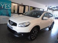 USED 2013 13 NISSAN QASHQAI 1.6 N-TEC PLUS 5d 117 BHP This Petrol Qashqai is finished in Arctic White with Black cloth seats. It is fitted with power steering, remote locking, electric windows and mirrors with power fold, climate control, cruise control, panoramic roof,  parking camera, Nissan Satellite Navigation, Bluetooth, alloy wheels, CD Stereo with Aux & Usb ports and more. It comes with an excellent service history carried out @ 13247/23749/37525 miles. It has a March 2019 MOT, it will be supplied with a service and 6 months warranty.