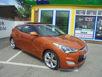 USED 2013 62 HYUNDAI VELOSTER 1.6 GDI SPORT 4d 138 BHP CALL 01543 379066... 12 MONTHS MOT... 6 MONTHS WARRANTY... JUST ARRIVED