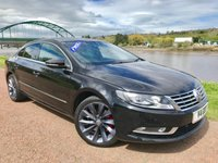 USED 2013 13 VOLKSWAGEN CC 2.0 GT TDI BLUEMOTION TECHNOLOGY DSG 4d 175 BHP **RED AND BLACK LEATHER**
