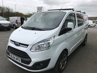 2014 FORD TRANSIT CUSTOM 290 LIMITED DOUBLE CAB 2.2 TDCi 155 6-Speed 5-SEATER £16495.00