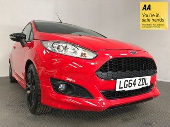 2014 FORD FIESTA 1.0 ZETEC S RED EDITION 3d 139 BHP £8495.00