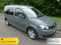 USED 2013 13 VOLKSWAGEN CADDY MAXI 1.6 C20 LIFE TDI BLUEMOTION TECHNOLOGY 5d 101 BHP Fantastic Value Seven Seat Volkswagen Caddy Maxi Life with Climate Control, Sliding Rear Doors, Alloy Wheels and Service History
