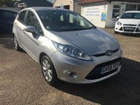 USED 2010 59 FORD FIESTA 1.4 ZETEC 16V 5d 96 BHP FULL SERVICE HISTORY / PARKING SENSORS / VOICE COMM / USB / BLUETOOTH