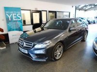 USED 2014 64 MERCEDES-BENZ E CLASS 2.1 E220 CDI AMG SPORT 4d AUTO 168 BHP Two owners, full Mercedes service history, supplied with 12 months Mot. Finished in Metallic Tenorite Grey.