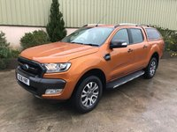 USED 2016 16 FORD RANGER 3.2 WILDTRAK 4X4 DCB TDCI 1d 197 BHP COLOUR CODED CANOPY, SAT NAV, LINER, HEATED SEATS, REVERSE CAMERA