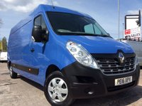 USED 2016 16 RENAULT MASTER LWB 2.3 LM35 BUSINESS PLUS ENERGY DCI S/R 135 BHP 1 OWNER FSH AIR CON SAT NAV MANUFACTURER'S WARRANTY AIR CONDITIONING SATELLITE NAVIGATION BLUETOOTH ELECTRIC WINDOWS AND MIRRORS ECO DRIVE REAR PARKING SENSORS 6 SPEED SPARE KEY