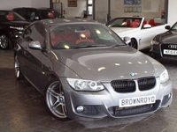 USED 2012 62 BMW 3 SERIES 3.0 330D M SPORT 2d AUTO 242 BHP +PRO NAV+RED HTD LTHR+XENONS+