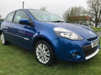 USED 2011 11 RENAULT CLIO 1.1 DYNAMIQUE TOMTOM 16V 3 door fsh satnav alloys aircon very clean car