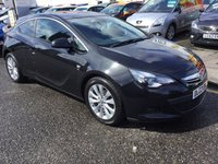 USED 2013 62 VAUXHALL ASTRA 2.0 GTC SRI CDTI S/S 3d 162 BHP PRICE INCLUDES A 6 MONTH AA WARRANTY DEALER CARE EXTENDED GUARANTEE, 1 YEARS MOT AND A OIL & FILTERS SERVICE. 6 MONTHS FREE BREAKDOWN COVER.