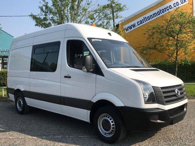 2014 14 VOLKSWAGEN CRAFTER 2.0 CR35 TDI Mwb [ MESS,CREW,WELFARE+TOLIET UNIT ] High Roof Van,Low mileage Free UK Delivery