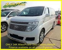 USED 2005 54 NISSAN ELGRAND V - 70th Edition 3.5 Auto, 8 Seats, Only 34,240 miles, Power Door +ONLY 34K WITH BIMTA CERT+