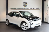USED 2016 16 BMW I3 0.6 I3 RANGE EXTENDER 5DR AUTO 168 BHP + HALF CREAM LEATHER INTERIOR + FULL SERVICE HISTORY + SATELLITE NAVIGATION + BLUETOOTH + HEATED SEATS + CRUISE CONTROL + CLIMATE CONTROL + PARKING SENSORS + 19 INCH ALLOY WHEELS +