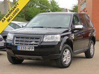 USED 2009 59 LAND ROVER FREELANDER 2.2 TD4 E S 5d 159 BHP AA DEALER PROMISE, DRIVE AWAY TODAY