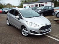 USED 2016 16 FORD FIESTA 1.2 ZETEC 5d 81 BHP FULL Ford Service History ONE Owner