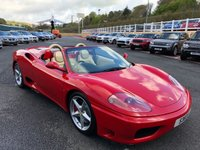 USED 2003 53 FERRARI 360 3.6 SPIDER F1 400 BHP Rosso Corsa with Cream, only 16,000 miles with Ferrari history