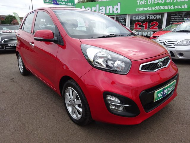 USED 2013 13 KIA PICANTO 1.2 2 ECODYNAMICS 5d 84 BHP CALL 01543 877320... 12 MONTHS MOT... 6 MONTHS WARRANTY... JUST ARRIVED... FREE ROAD TAX