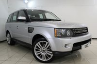 USED 2012 61 LAND ROVER RANGE ROVER SPORT 3.0 SDV6 HSE 5DR AUTOMATIC 255 BHP FRONT AND REAR HEATED LEATHER SEATS + REVERSE CMAERA + HEATED STEERING WHEEL + SAT NAVIGATION + BLUETOOTH + CRUISE CONTROL + PARKING SENSOR + DVB-T TV TUNNER + MULTI FUNCTION WHEEL + CLIMATE CONTROL + 20 INCH ALLOY WHEELS