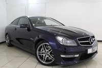 USED 2013 63 MERCEDES-BENZ C 63 AMG 6.2 C63 AMG 2DR AUTOMATIC 457 BHP SERVICE HISTORY + HEATED LEATHER SEATS + SAT NAVIGATION + PANORAMIC ROOF + PARKING SENSOR + BLUETOOTH + CRUISE CONTROL + CLIMATE CONTROL + 18 INCH ALLOY WHEELS