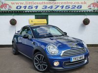 USED 2012 12 MINI COUPE 1.6 COOPER 2d 120 BHP FULL MAIN DEALER HISTORY, 12 MONTHS MOT, FINANCE AVAILABLE