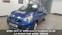 USED 2014 64 NISSAN MICRA 1.2 ACENTA 5d 79 BHP Check out our stock: www.qualitycampervans.com or www.qualitycarsuk.co.uk