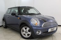 USED 2010 10 MINI HATCH COOPER 1.6 COOPER PEPPER PACK 3DR 122 BHP SERVICE HISTORY + AIR CONDITIONING + AUXILIARY PORT + RADIO/CD + 15 INCH ALLOY WHEELS