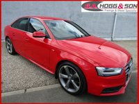 "USED 2014 14 AUDI A4 2.0 TDI S LINE 4dr 150 BHP STUNNING VEHICLE FINISHED IN THE BEST COLOUR HALF LEATHER SPORTS INTERIOR AND 19""ALLOYS"