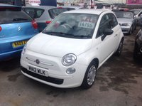 USED 2012 12 FIAT 500 1.2 POP 3d 69 BHP 30100 miles, low road tax, low insurance, economical, great value.