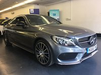 USED 2016 66 MERCEDES-BENZ C CLASS 2.0 C 300 AMG LINE PREMIUM 2d AUTO 241 BHP HUGE SPEC CAR, FULLY PREPARED FOR SALE INCLUDING A FULL SERVICE, MERCEDES WARRANTY UNTIL SEPTEMBER 2019