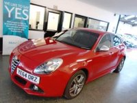 USED 2014 64 ALFA ROMEO GIULIETTA 2.0 JTDM-2 EXCLUSIVE TCT 5d AUTO 175 BHP This automatic Alfa Guilietta Exclusive Model JTDM is finished in Rosso Red, silver mirror caps with Black leather & cloth seats. It is fitted with power steering, Alfa bluetooth phone, D A B radio, remote locking, electric windows, cruise control, Alloy Wheels, aux & USB ports, start stop, led day lights, dual zone air conditioning, natural/ all weather and dynamic mode driving modes and more. It has had One company owner and comes with a service history. The current Mot runs till Sept 2019.