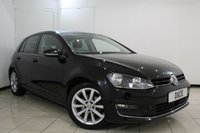 USED 2014 14 VOLKSWAGEN GOLF 2.0 GT TDI BLUEMOTION TECHNOLOGY 5DR 148 BHP SERVICE HISTORY + SAT NAVIGATION + BLUETOOTH + HEATED SEATS + PARKING SENSOR + CRUISE CONTROL + MULTI FUNCTION WHEEL + AIR CONDITIONING + 17 INCH ALLOY WHEELS