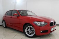 USED 2014 63 BMW 1 SERIES 1.6 116D EFFICIENTDYNAMICS 5DR 114 BHP SERVICE HISTORY + BLUETOOTH + CRUISE CONTROL + MULTI FUNCTION WHEEL + AUXILIARY PORT + DAB RADIO + AIR CONDITIONING + 16 INCH ALLOY WHEELS