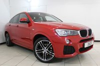 USED 2015 15 BMW X4 2.0 XDRIVE20D M SPORT 4DR AUTOMATIC 188 BHP FULL SERVICE HISTORY + HEATED LEATHER SEATS + SAT NAVIGATION PROFESSIONAL + REVERSE CAMERA + BLUETOOTH + CRUISE CONTROL + MULTI FUNCTION WHEEL + CLIMATE CONTROL + 20 INCH ALLOY WHEELS