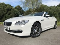 "USED 2014 14 BMW 6 SERIES 3.0 640D SE 2d AUTO 309 BHP LOVELY 640D IN WHITE WITH SPORTS LEATHER 20""ALLOYS"