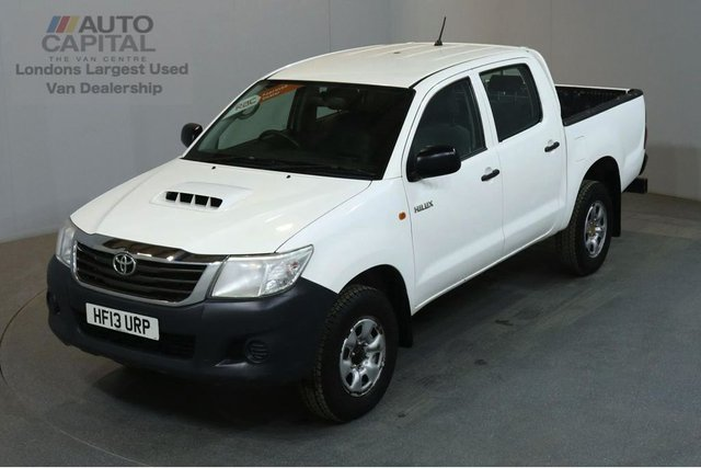 2013 13 TOYOTA HI-LUX 2.5 HL2 4X4 D-4D DCB 142 BHP AIR CON LIGHT UTILITY PICK UP £9,490+VAT, SPARE KEY