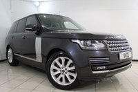 USED 2013 13 LAND ROVER RANGE ROVER 3.0 TDV6 VOGUE SE 5DR AUTOMATIC 258 BHP HEATED LEATHER SEATS + SAT NAVIGATION + PANORAMIC ROOF + REVERSE CAMERA + BLUETOOTH + CRUISE CONTROL + MULTI FUNCTION WHEEL + CLIMATE CONTROL + HEATED STEERING WHEEL + 20 INCH ALLOY WHEELS