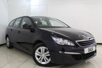 USED 2015 15 PEUGEOT 308 1.6 HDI S/S SW ACTIVE 5DR 115 BHP SERVICE HISTORY + SAT NAVIGATION + BLUETOOTH + PARKING SENSOR + CRUISE CONTROL + MULTI FUNCTION WHEEL + AIR CONDITIONING + 16 INCH ALLOY WHEELS