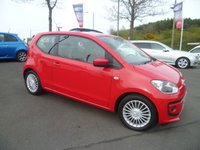 USED 2012 62 VOLKSWAGEN UP 1.0 HIGH UP BLUEMOTION TECHNOLOGY 3d 74 BHP FULL DEALER SERVICE HISTORY, SAT NAV, LEATHER SEATS, HEATED SEATS, BLUETOOTH, AIR CON, FREE ROAD FUND AND GREAT MPG