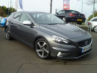 USED 2014 14 VOLVO V40 1.6 D2 R-DESIGN 5d 113 BHP FULL SERVICE HISTORY, CRUISE CONTROL, CLIMATE CONTROL, BLUETOOTH, HALF LEATHER SEATS, FREE ROAD FUND AND FANTASTIC MPG