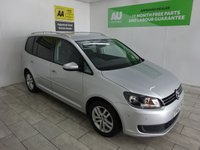 USED 2013 62 VOLKSWAGEN TOURAN 1.6 SE TDI BLUEMOTION TECHNOLOGY 5d 103 BHP
