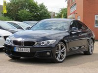 USED 2015 64 BMW 4 SERIES 2.0 420D M SPORT GRAN COUPE 4d AUTO 181 BHP AUTOMATIC, FULL LEATHER + SATELLITE NAVIGATION