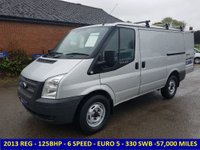 2013 FORD TRANSIT 125BHP 330 SWB EURO 5 WITH 6 SPEED GEARBOX £7495.00