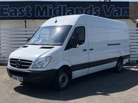 USED 2012 62 MERCEDES-BENZ SPRINTER 313 CDI LWB Hi Roof 2.1 130 BHP 2012 (62) Plate White