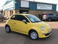 2009 FIAT 500 1.2 POP 3 Door 69 BHP Countrypolitan Yellow £30 Road Tax £3795.00