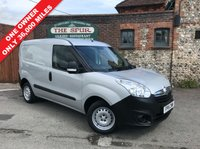 USED 2015 15 VAUXHALL COMBO VAN 1.2 2000 L1H1 CDTI 1d 90 BHP One Owner, Only 36,000 Miles, Silver Metallic.