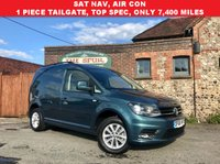 USED 2016 66 VOLKSWAGEN CADDY 2.0 C20 TDI HIGHLINE 1d 101 BHP Rare One Piece Tailgate, Only 7,000 miles, SAT NAV, Air Conditioning.